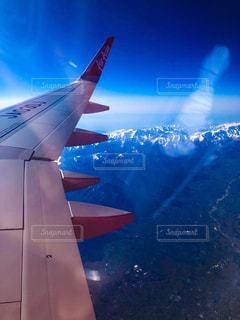 上空からみた山の景色の写真・画像素材[2036564]