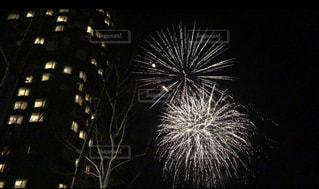夜空の花火の写真・画像素材[2140323]