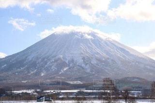 冬の羊蹄山の写真・画像素材[3356048]