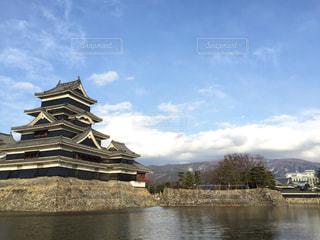 松本城左側の写真・画像素材[1209472]