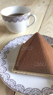 コーヒーとケーキの写真・画像素材[1209804]