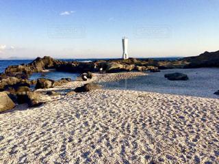 砂浜と灯台の写真・画像素材[1210501]