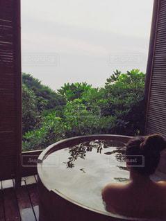 のんびり温泉の写真・画像素材[1213052]