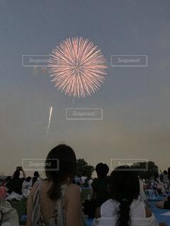空に花火の写真・画像素材[1396814]