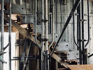 コンクリートの階段の写真・画像素材[1213643]