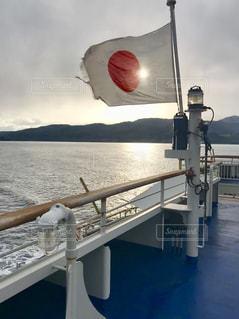 甲板から臨む朝日の写真・画像素材[1213669]