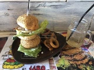 Wハンバーガーの写真・画像素材[1374086]