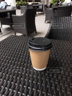 ブラックコーヒーテーブルの写真・画像素材[3356979]