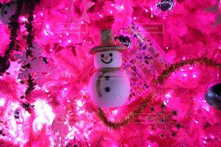 ピンクのクリスマスツリーの写真・画像素材[1258416]