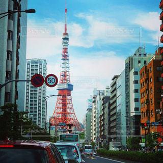 車の通りの都市東京の写真・画像素材[1215580]