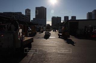 早朝の築地市場の写真・画像素材[1218108]