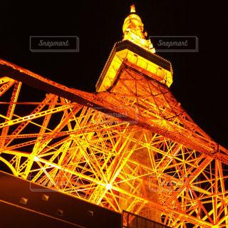 夜の東京タワーの写真・画像素材[1219442]