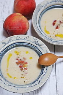 桃の冷製スープの写真・画像素材[1224568]