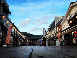 寺町の参道にての写真・画像素材[1604667]