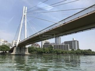 水の体の上の橋の写真・画像素材[1315627]