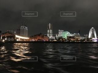 横浜の夜、船上よりの写真・画像素材[1445284]