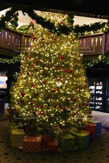 ホテルのクリスマスツリーの写真・画像素材[1597436]