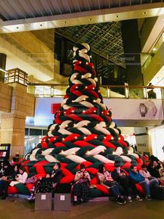 ニットクリスマスツリー、六本木ヒルズの写真・画像素材[1685723]