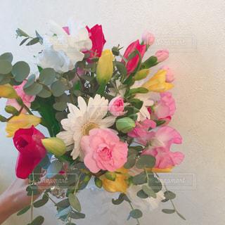 母のオリジナル花束💐の写真・画像素材[1225850]