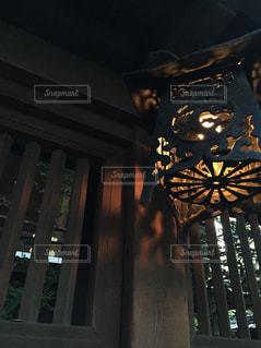 お寺のライトの写真・画像素材[1231931]