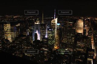マンハッタンの夜景の写真・画像素材[1223365]