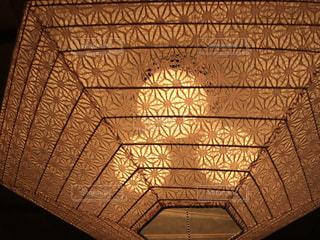 古民家カフェの照明の写真・画像素材[1222096]