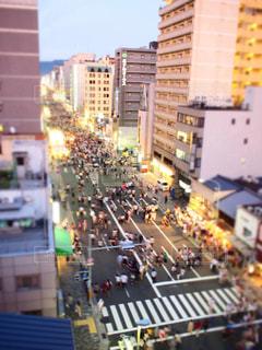 祇園祭・宵山を屋上からの写真・画像素材[1230706]