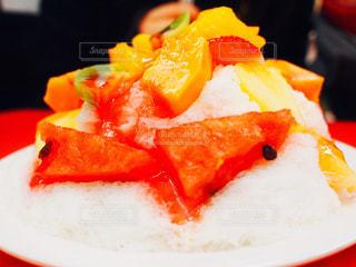台北の市場で食べたかき氷の写真・画像素材[1238036]