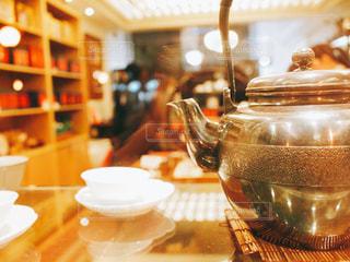 台北のお茶屋さんにての写真・画像素材[1238040]
