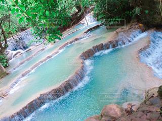 ラオス・クァンシーの滝の写真・画像素材[1239730]