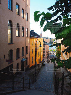 魔女の宅急便に出てきそうなストックホルムの街並みの写真・画像素材[1267486]