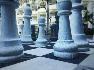 大きなチェスの駒の写真・画像素材[1238844]
