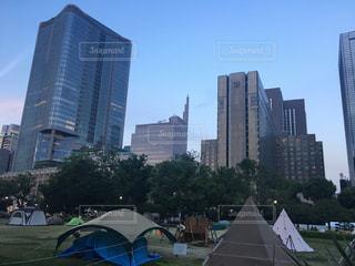 都会のキャンプの写真・画像素材[1224013]