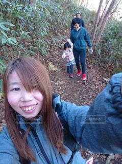 山登り中の写真・画像素材[1227812]