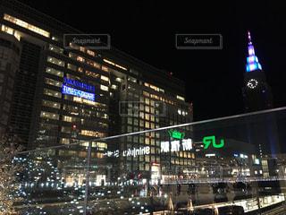 夜の新宿タイムズスクエアの写真・画像素材[1224406]