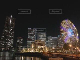 夜の街の景色の写真・画像素材[1224477]