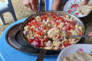スクランブルエッグの朝食の写真・画像素材[1226113]