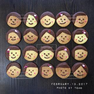 お顔クッキーの写真・画像素材[1225976]
