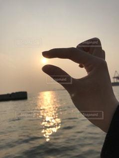 夕日キャッチの写真・画像素材[1226343]
