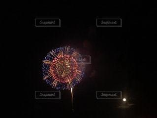 夜空の花火の写真・画像素材[1228205]