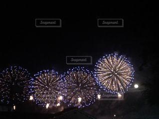 夜空に花火のグループの写真・画像素材[1228208]