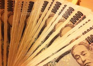 並んだ一万円札の写真・画像素材[1234392]