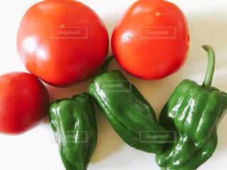トマトとピーマンの写真・画像素材[1251776]