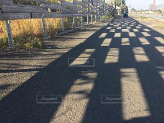 木フェンス側でパスの写真・画像素材[1662263]