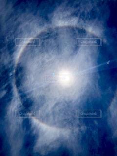 太陽に虹の輪🌈の写真・画像素材[2123597]