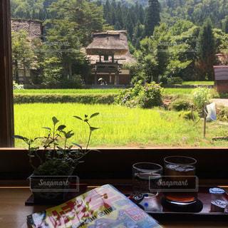 白川郷のカフェでひとやすみの写真・画像素材[1502603]