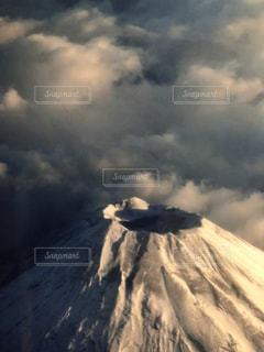 上空からの富士山!の写真・画像素材[1238761]