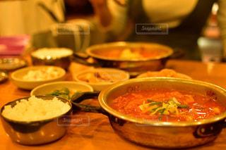 韓国料理の定番 キムチチゲの写真・画像素材[1235490]