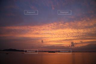 瀬戸内海の夕焼けの写真・画像素材[1234936]