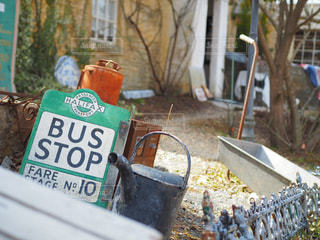 BUS STOPの写真・画像素材[1240568]